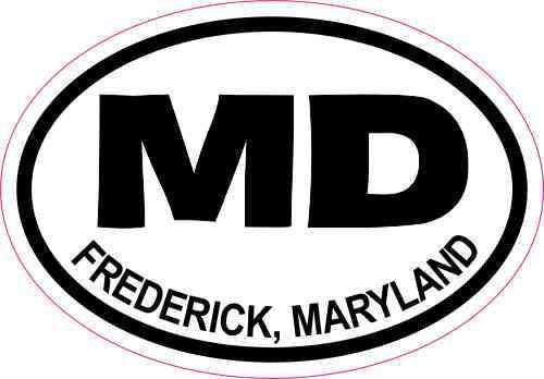 Oval MD Frederick Maryland Sticker