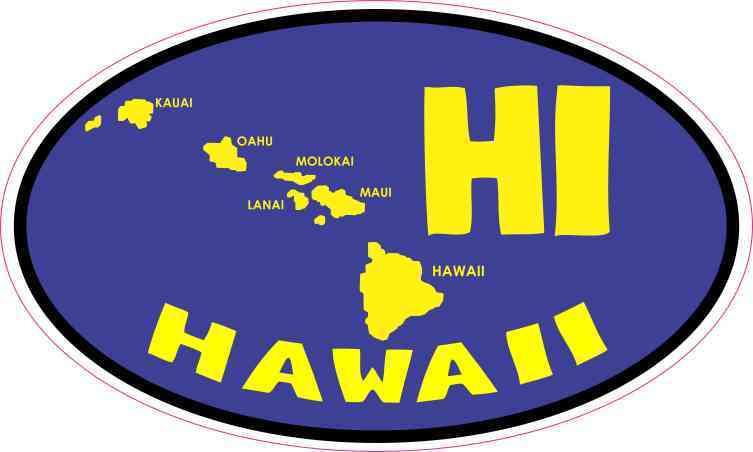MAGNET Hawaiian Islands Shaped HAWAII STATE FLAG Flag Magnetic Sticker