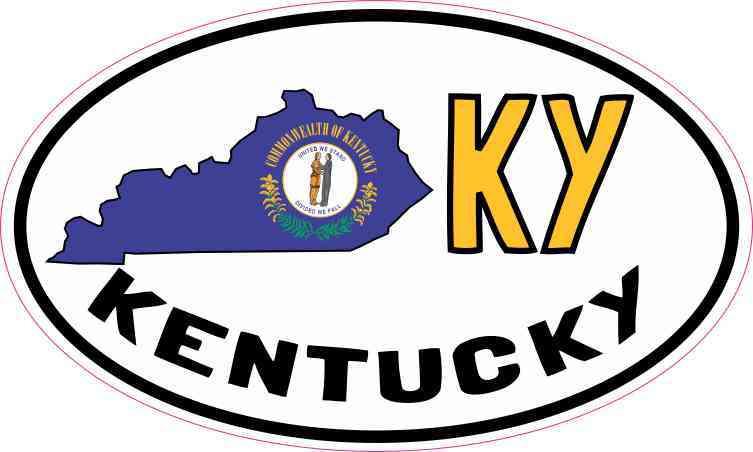 Oval KY Kentucky Sticker