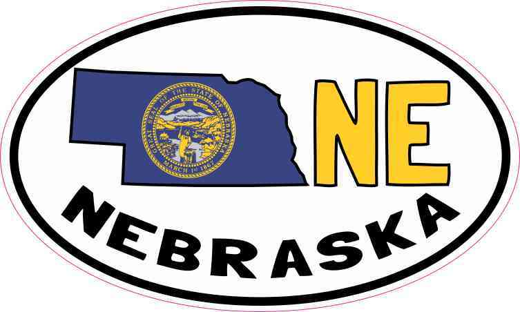 Oval NE Nebraska Sticker