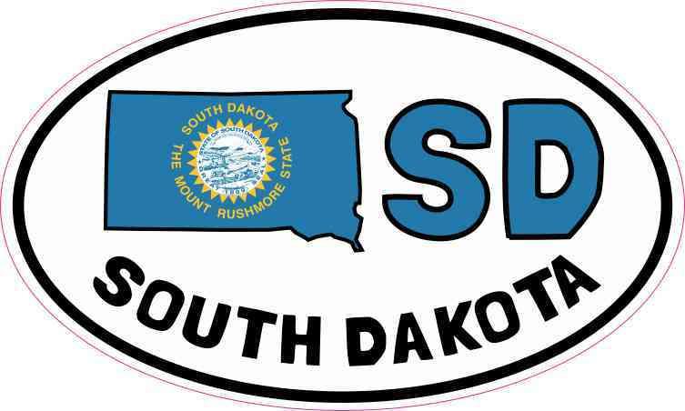 Oval SD South Dakota Sticker