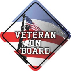 Veteran On Board Sticker