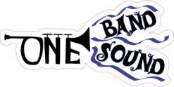 Blue Trumpet One Band One Sound Sticker
