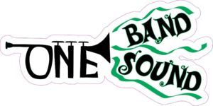 Green Trumpet One Band One Sound Sticker