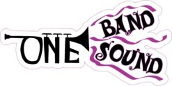 Purple Trumpet One Band One Sound Sticker