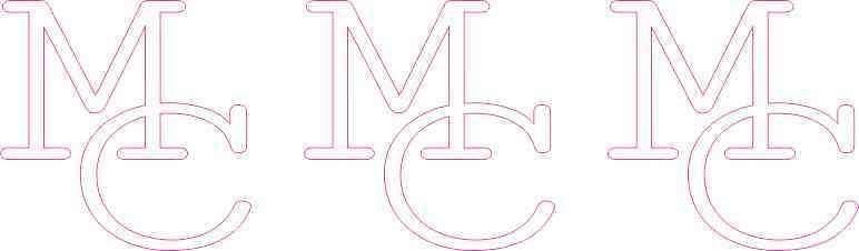 Die Cut Interlocked MC Moffat County Stickers