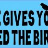 When Life Gives You Crumbs Feed the Birds Bumper Sticker