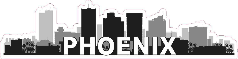 Phoenix Skyline Sticker