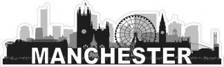 Manchester Skyline Sticker