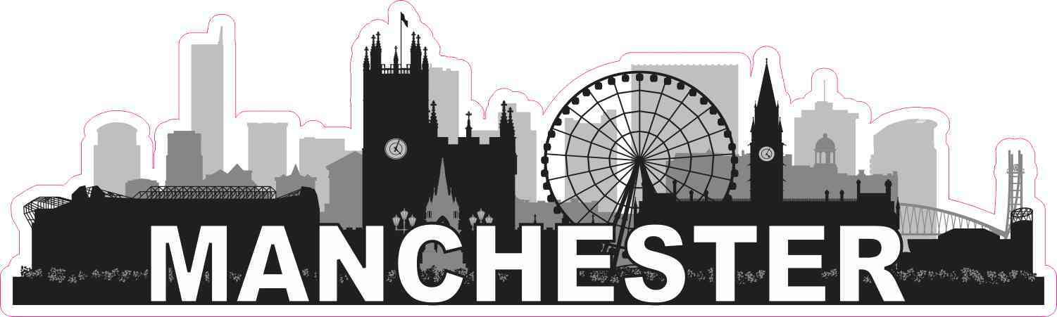 Manchester Skyline Sticker
