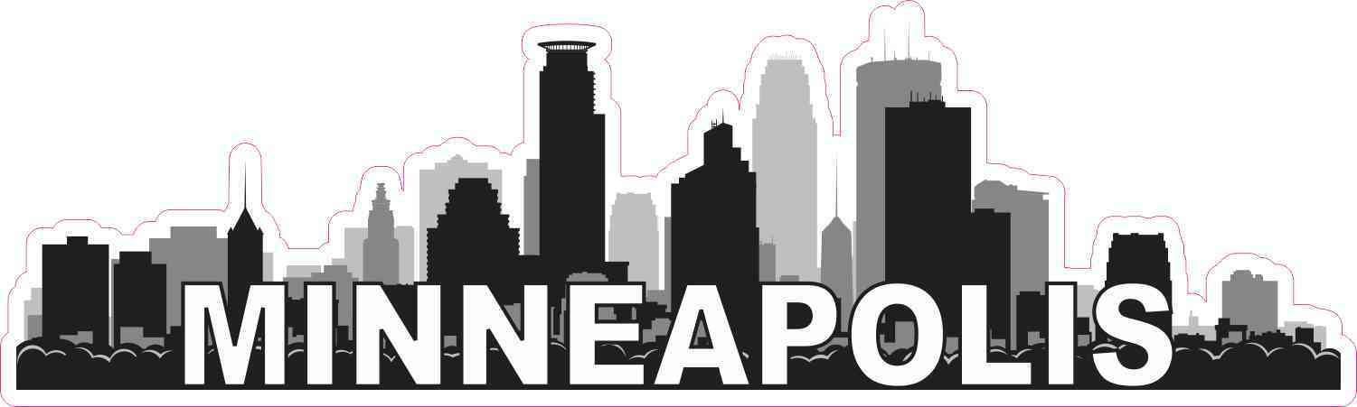 Minneapolis Skyline Sticker