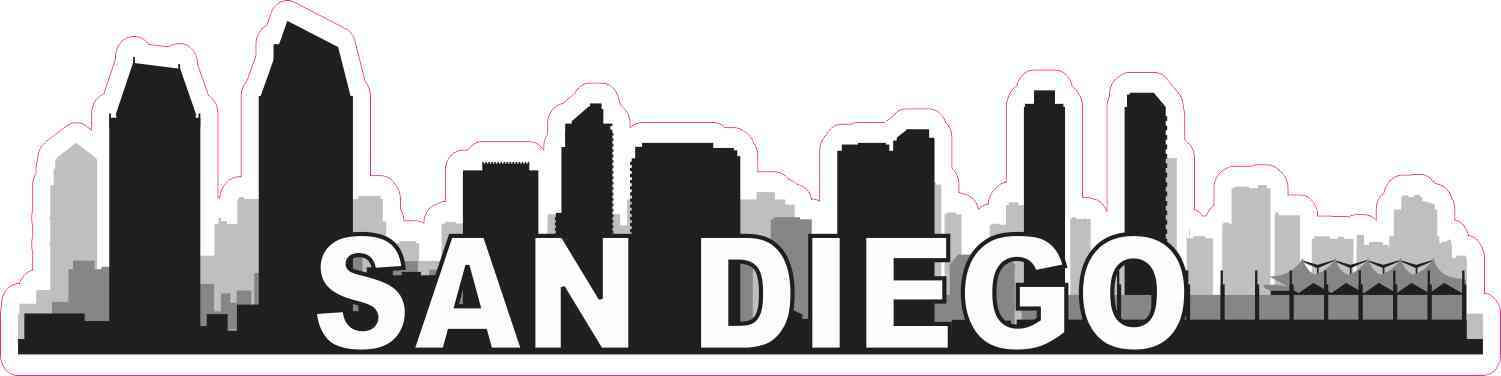 San Diego Skyline Sticker