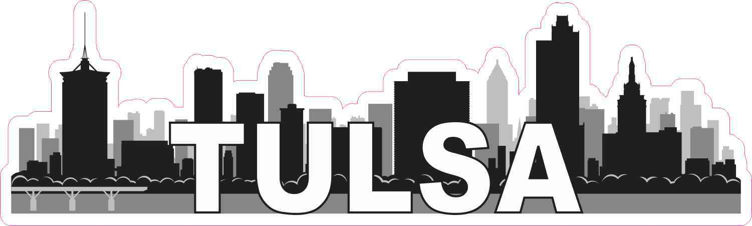 Tulsa Skyline Sticker