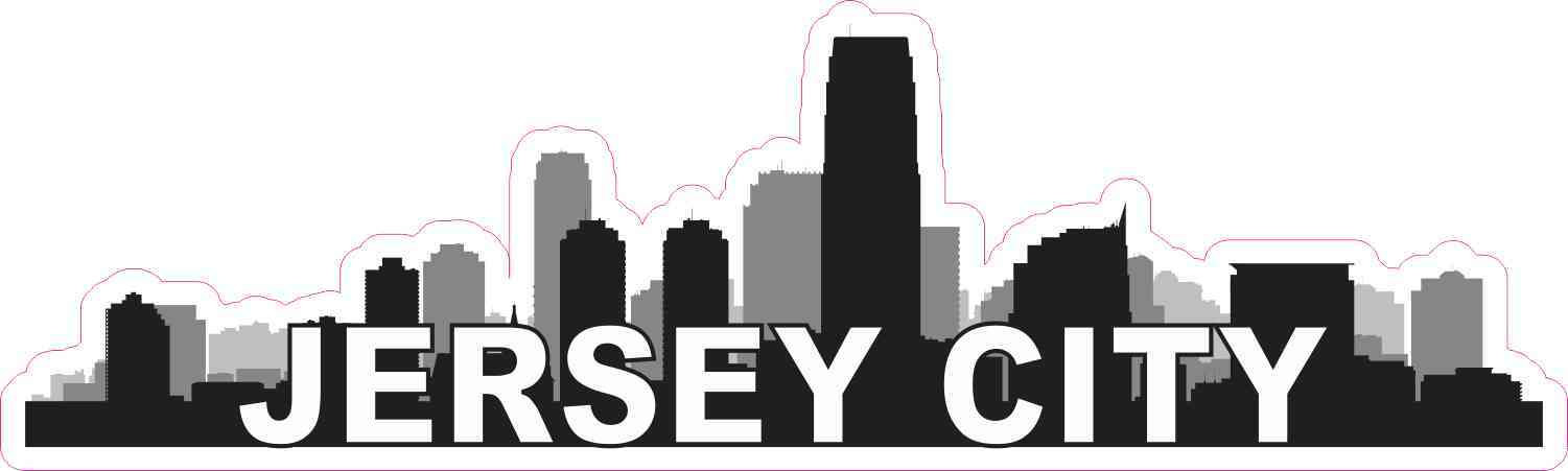 Jersey City Skyline Sticker