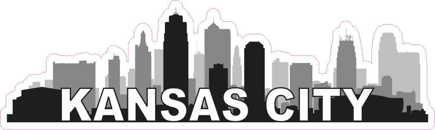 Kansas City Skyline Sticker