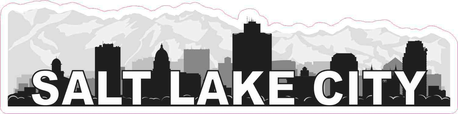 Salt Lake City Skyline Sticker
