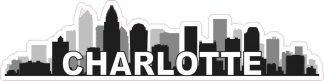 Charlotte Skyline Sticker