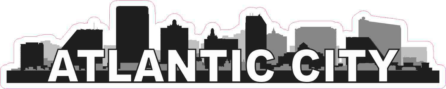 Atlantic City Skyline Sticker