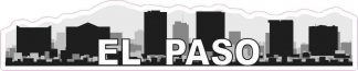 El Paso Skyline Sticker