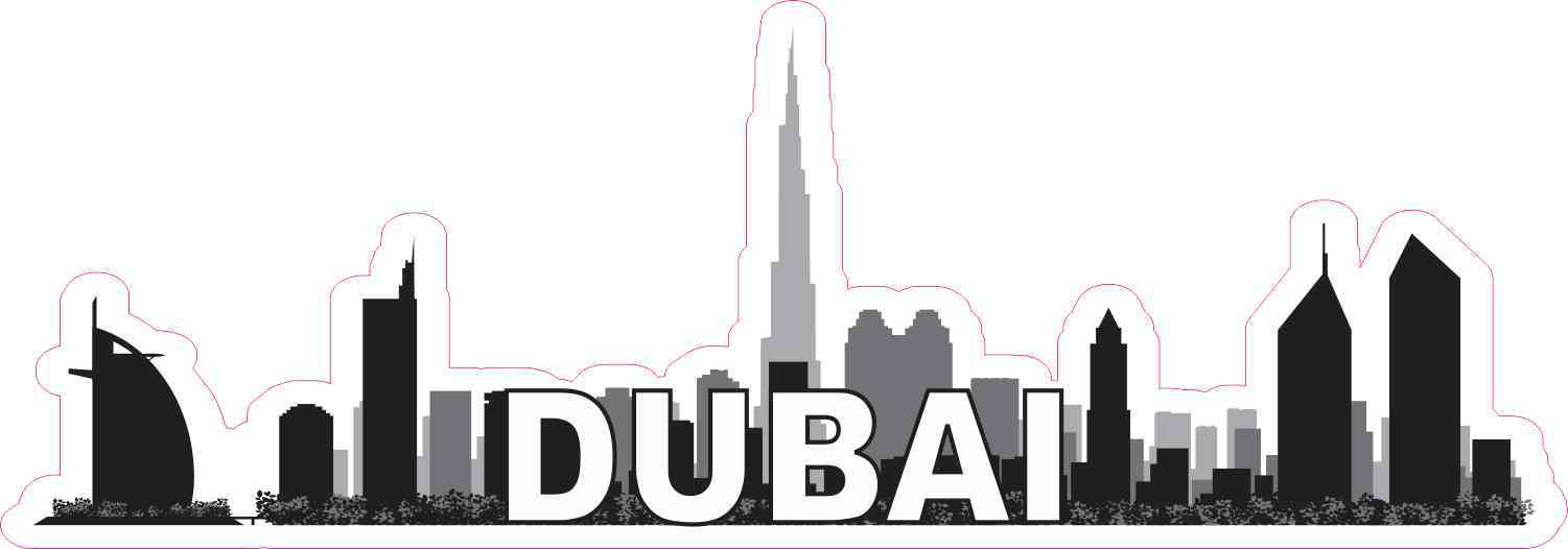 Dubai Skyline Sticker