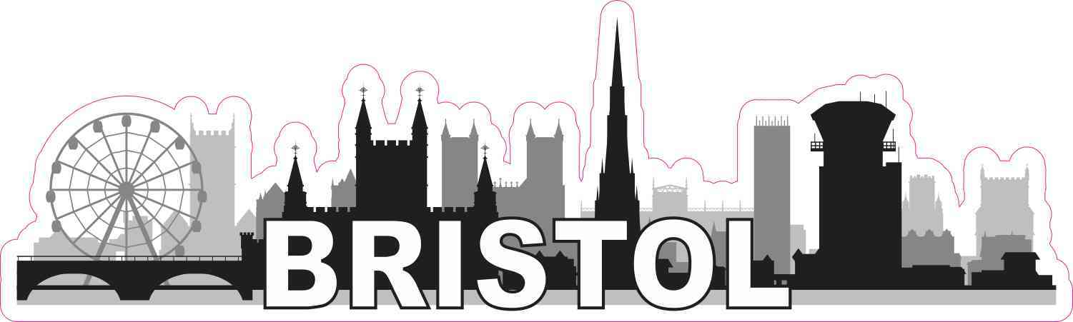 Bristol Skyline Sticker