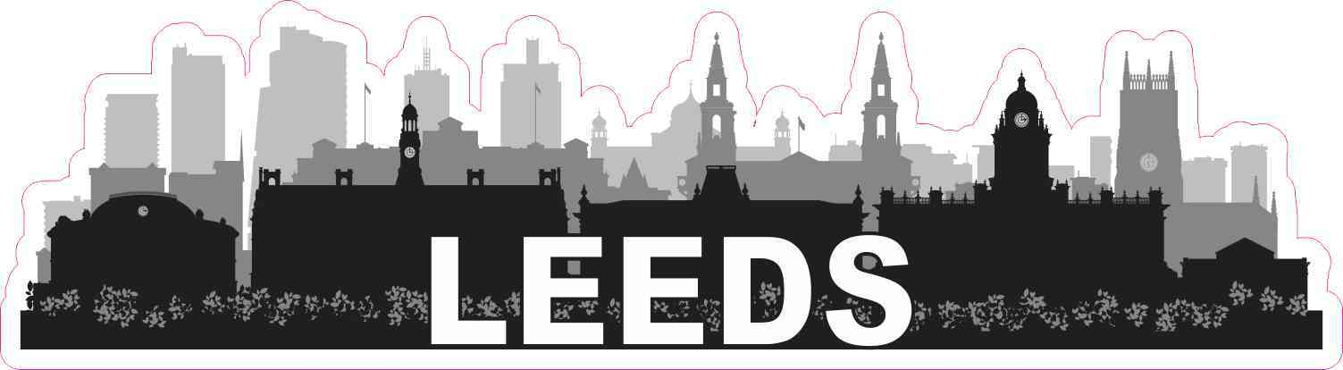 Leeds Skyline Sticker