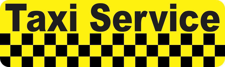 Taxi Service Bumper Sticker