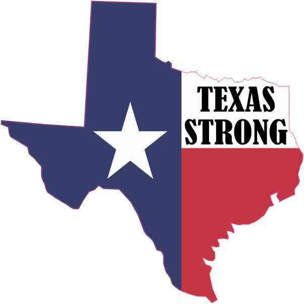 Die Cut Texas Strong Sticker