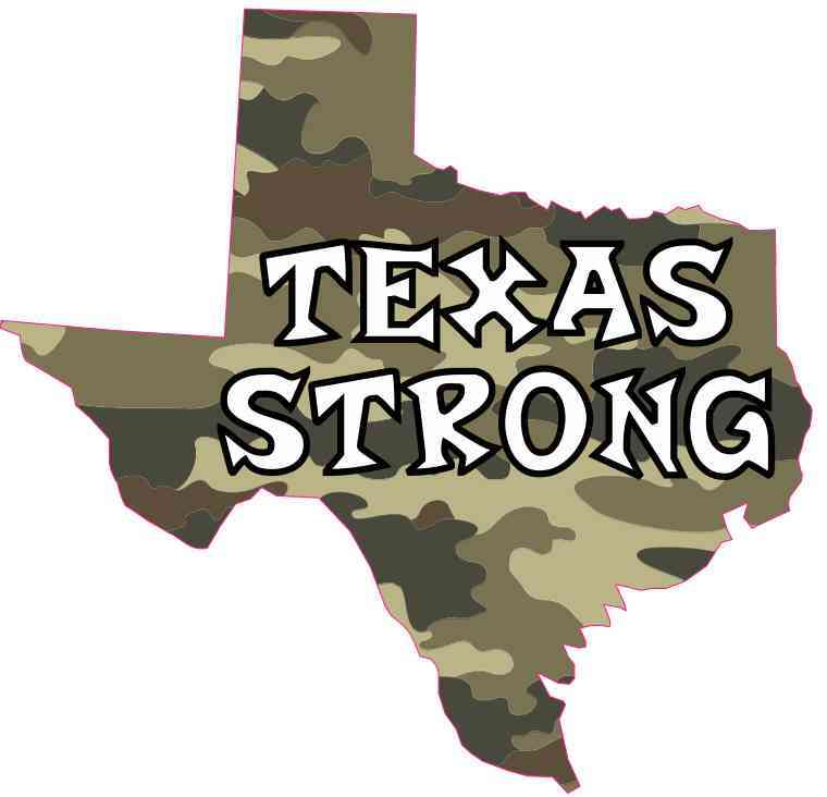 Die Cut Camo Texas Strong Sticker