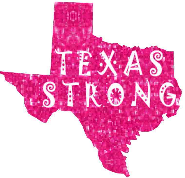 Die Cut Pink Texas Strong Sticker