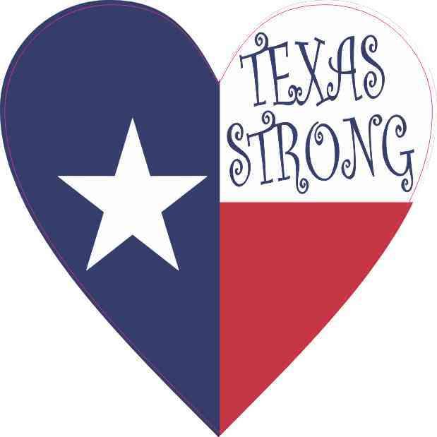 Heart Texas Strong Sticker