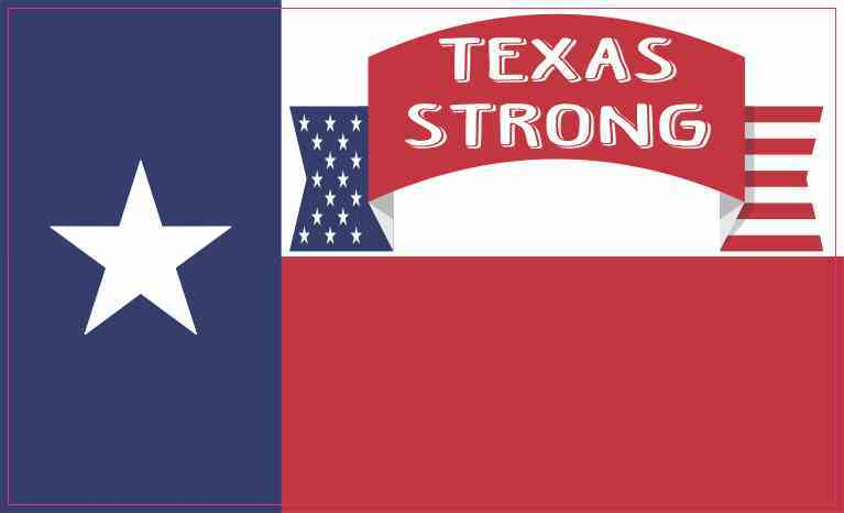 Patriotic Texan Flag Texas Strong Sticker