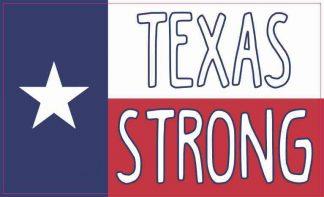 Texan Flag Texas Strong Sticker