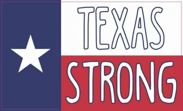 Texan Flag Texas Strong Sticker
