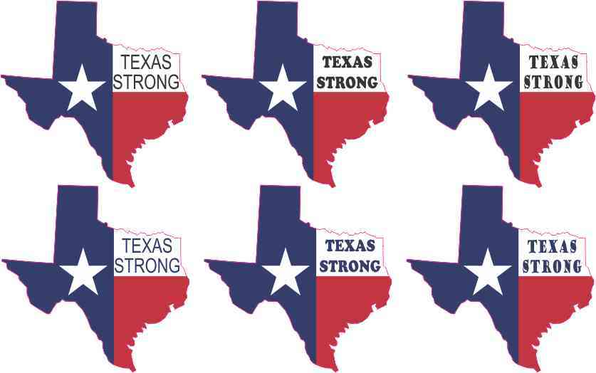 Die Cut Texas Strong Stickers