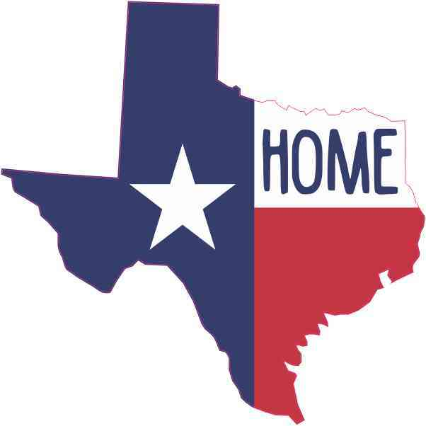 Die Cut Home Texas Sticker