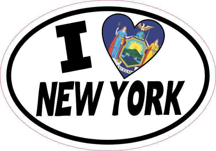 Oval I Love New York Sticker