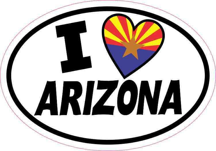 Oval I Love Arizona Sticker