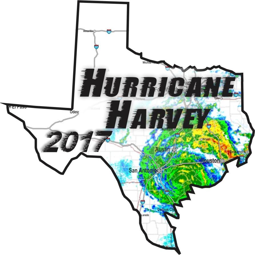 Texas Hurricane Harvey Sticker