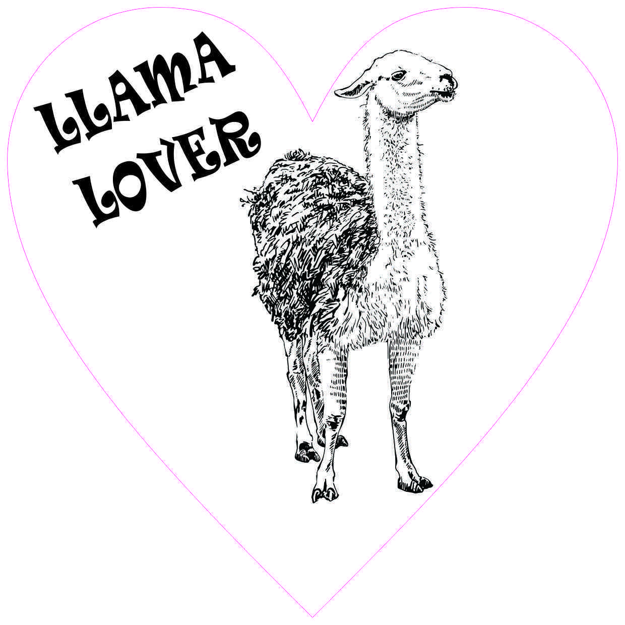 Heart Llama Lover Sticker