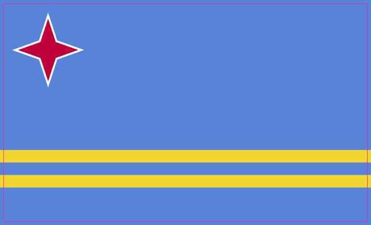 Aruba Flag Sticker