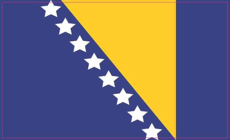 Bosnia and Herzegovina Flag Sticker