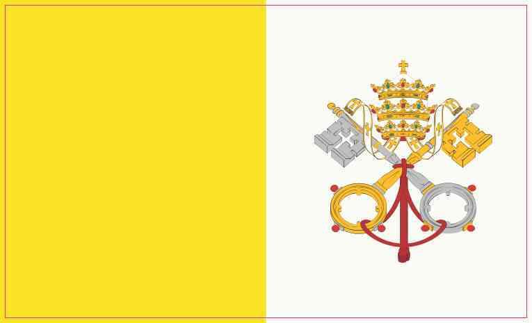 Vatican City Flag Sticker