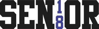 Blue Senior 18 Sticker