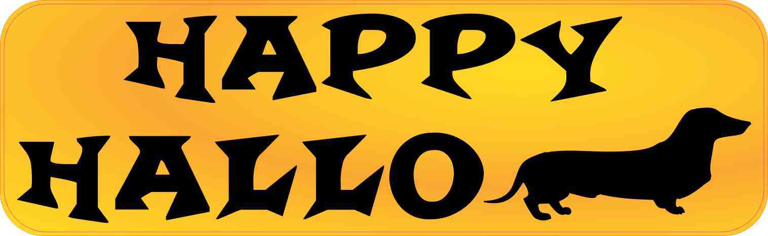 Happy Halloweenie Bumper Sticker