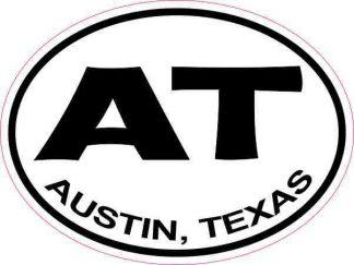 Oval AT Austin Texas Sticker