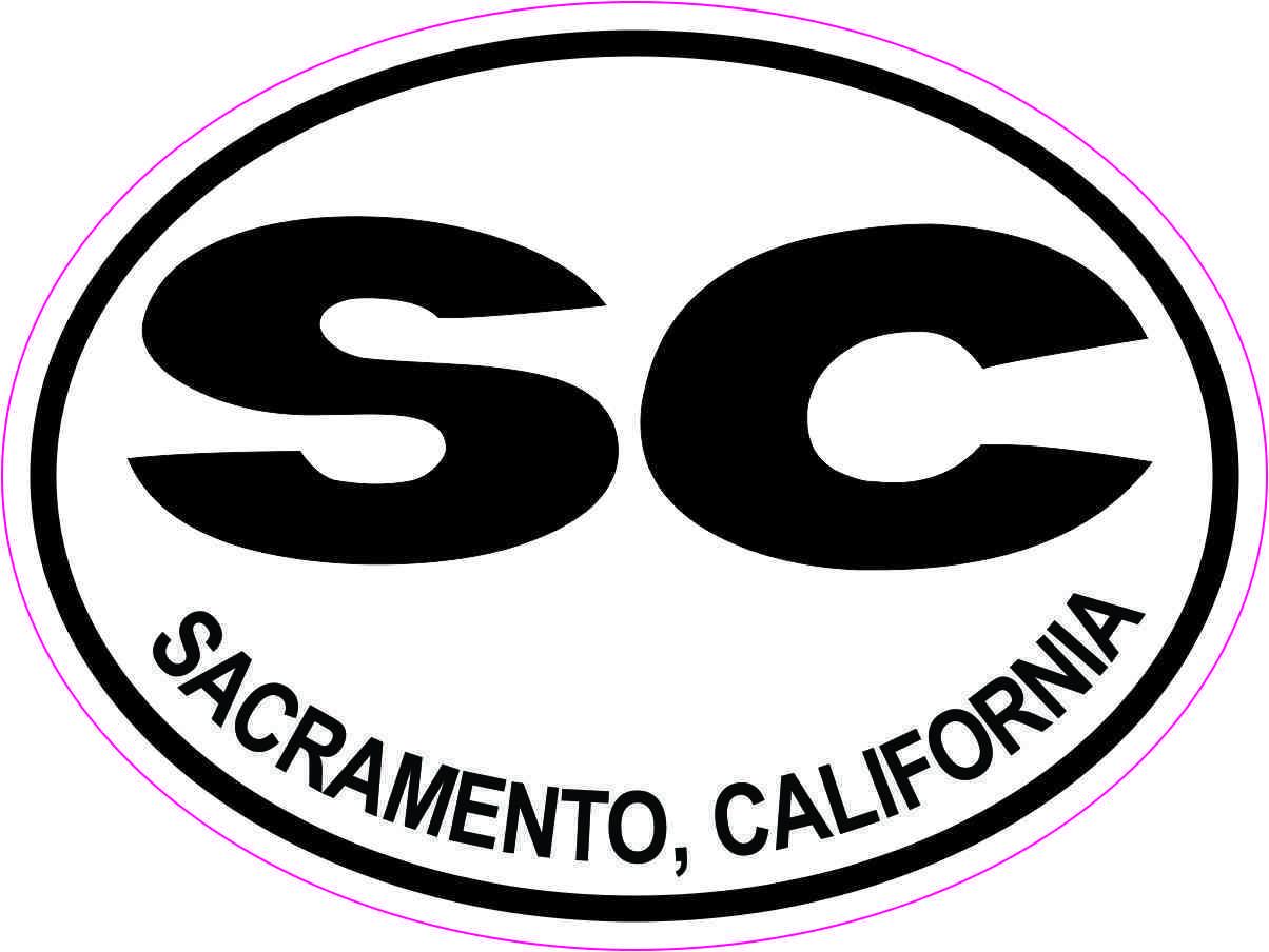 Oval SC Sacramento California Sticker
