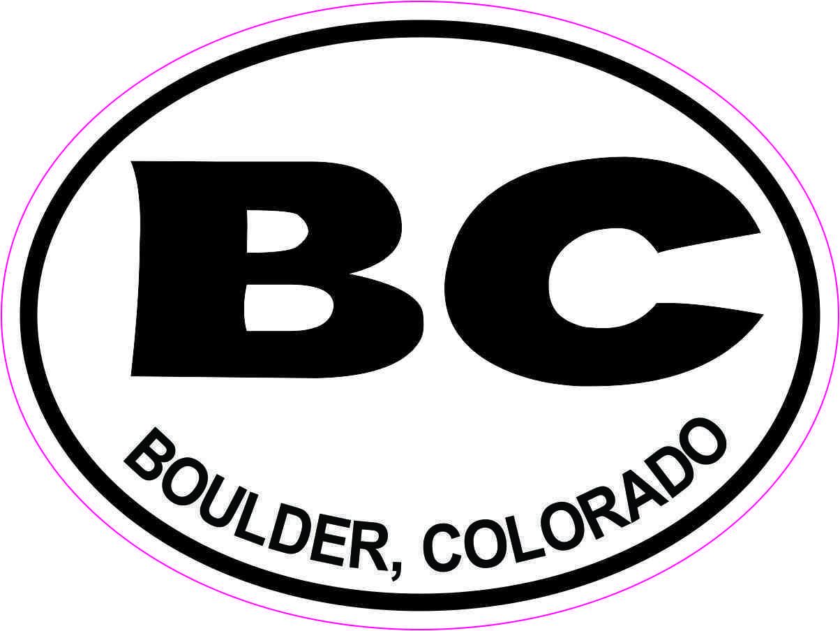 Oval BC Boulder Colorado Sticker