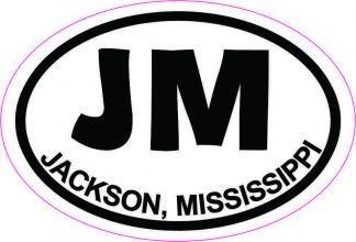Oval JM Jackson Mississippi Sticker