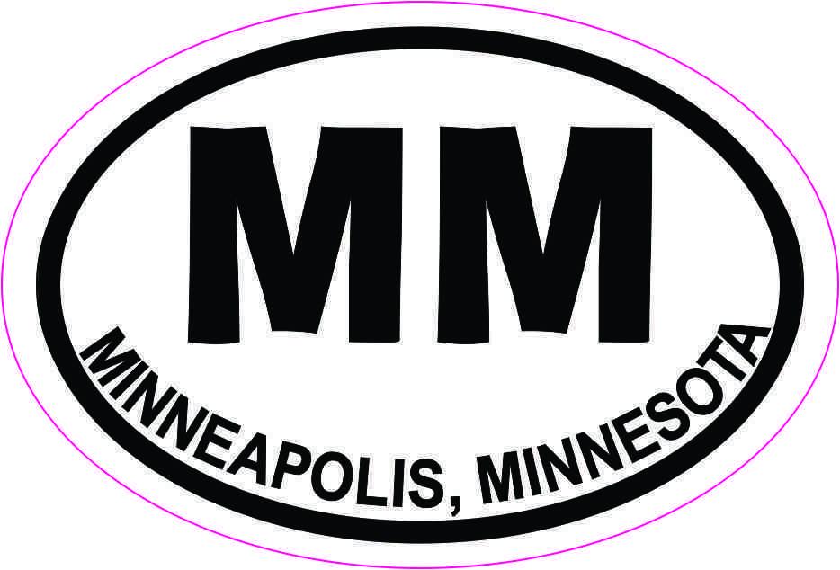Oval MM Minneapolis Minnesota Sticker